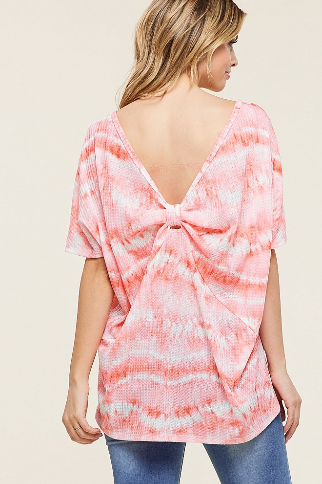 TIE DYE BACK KNOTTED TOP