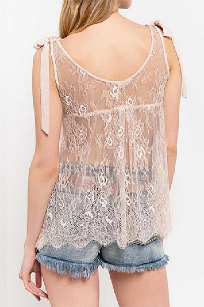 SOLID LACE TUNIC