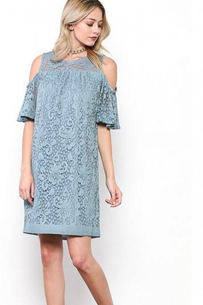 LACE CROCHET DRESS